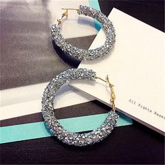 High Quality Women Earrings Massive Dull Polish Circle Style Women Jewellery Hot Ladies Accessories silver one size
