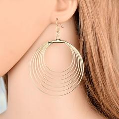 Vintage Women Earrings Stylish Women Stud Multilayer Circle Design Women Jewellery Accessories gold one size