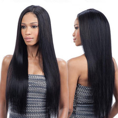 Long Straight Wigs Women Synthetic Hair Black Bangs Lace Front Human Cape Hair New Fashion black one size