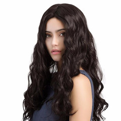 New Style Body Wave Synthetic Hair Hot Sale Wigs Women Gift Full Size Replace Wigs Accessories black one size