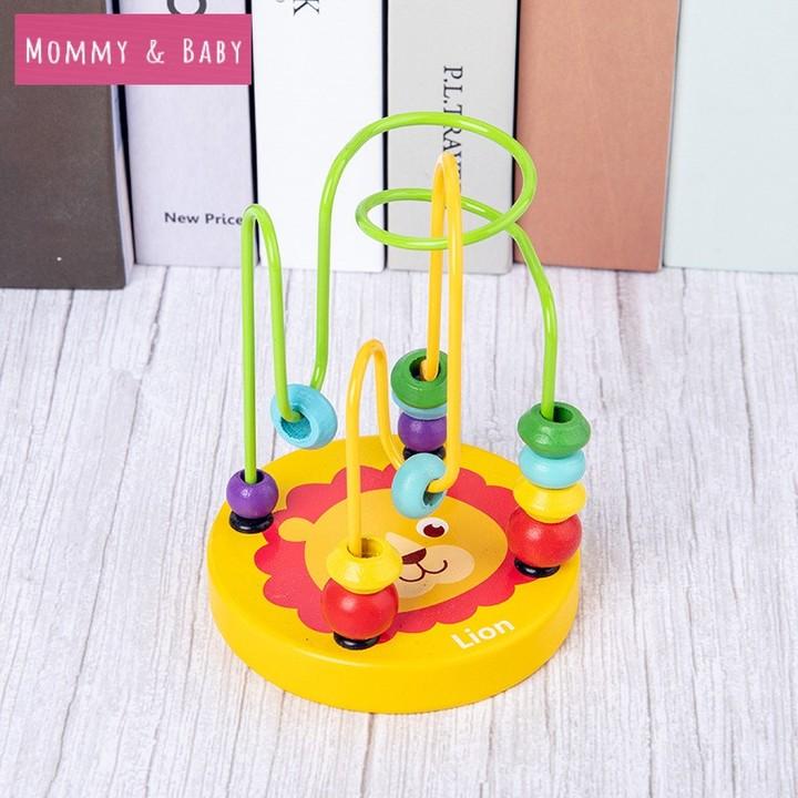 HOT children's toys baby doll kids Educational toy beads string of beads game Mini around animal radom 12cm*9cm*9cm