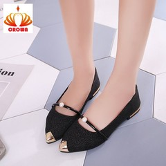 Sale Promotion! Brand New Ladies Flat Shoes Casual Women Shoes Comfortable Pointed Toe Flat Shoes black 38