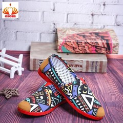 New product promotion! Three Days Limited! Women flats Casual shoes canvas Unisex Breathable Shoes Graffitti Green 39