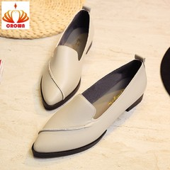 Fashion Women Pumps Shoes Slip-on Pointed Toe Low Heels Woman Casual Shoes Europe Brand Design gray 38