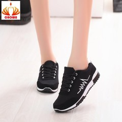 Sneakers Women casual Cross-tied Shoe Lace-Up Outdoor Casual Comfortable Breathable Mesh Shoes balck 36