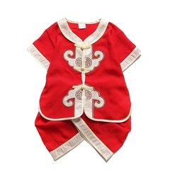 Children Chinese Traditional Costumes Clothing Set Birthday Party Wear Baby Kids Boys Clothes 1 100cm Cotton