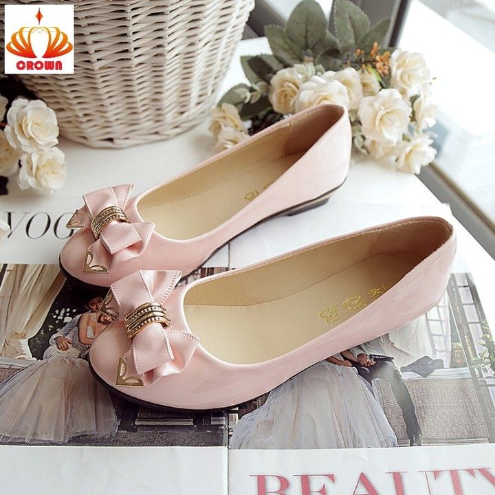 Hot Sale Toe Flat Heel Bow Tie Shoes Vintage Gift Women Fashion Casual Flat Shoes High Quality pink 35