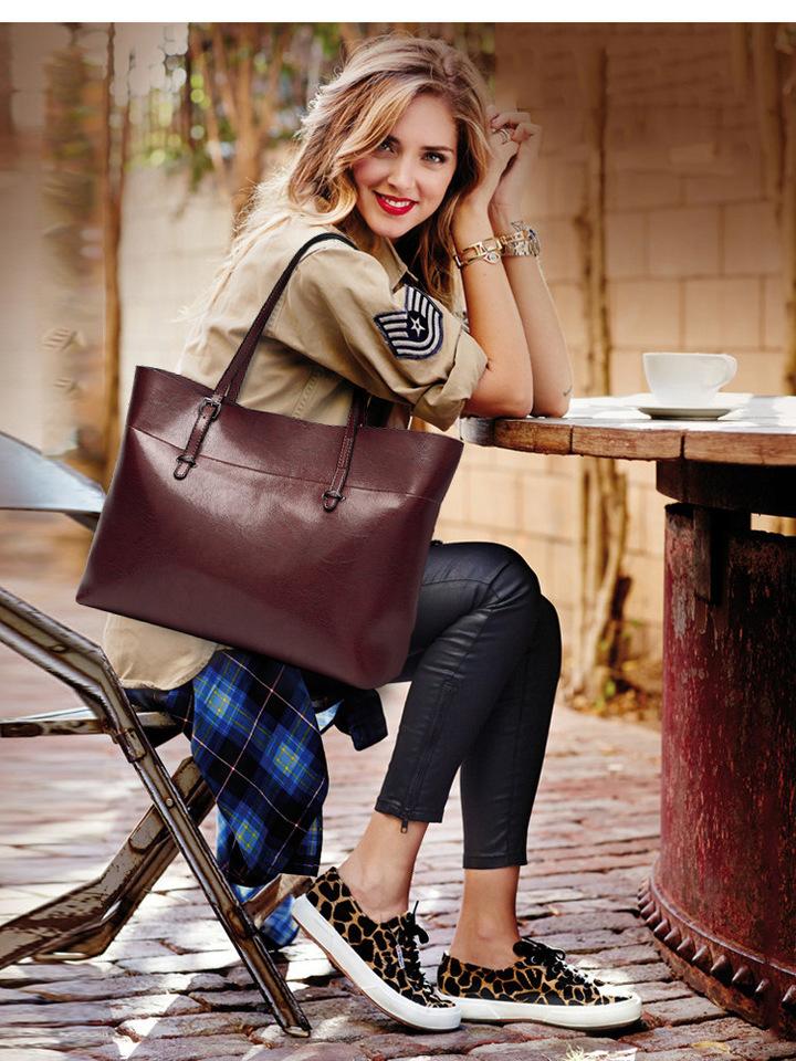 2019 new fashion women's bag one shoulder cross body ladies handbag handbag coffee one size