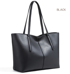 Big bag 2019 new fashion simple all-in-one large capacity single shoulder women's leather bag black one size