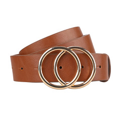 CCH retro decorative metal buckle belt with large round buckle, suitable for ladies belt