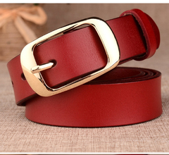 CCH women's leather cowhide fashion new versatile belt decoration