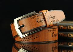 CCH men's belt casual fashion antique hollow belt brown 95cm-115cm