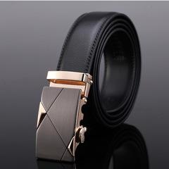 CCH premium business casual men leather belt belt buckle belt Golden square 105cm-130cm