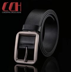 CCH fashion needle buckle belt genuine genuine leather men's leisure cowhide belt black 100cm-125cm