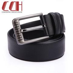 CCH genuine leather fashion dragon tree grain men's leather belt leisure cowhide belt black 110-120cm
