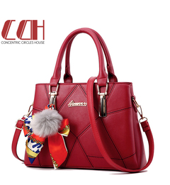 Hot style 2019 sale, flash sale, stylish embroidered lady's bag, cross shoulder handbag wine red one size