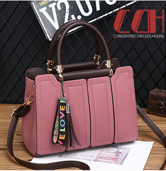 2019 crazy promotion, flash sale, fresh style, fashion single-shoulder cross-body handbag pink one size