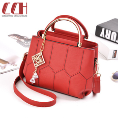 2019 crazy price, flash sale, fashion single shoulder handbag red one size
