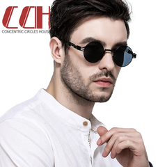 2019 crazy promotion, sell at a loss, new round men and women sunglasses Black frame gray 1 one size