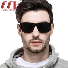 2019 crazy price, hot new, men and women polarized color fashion sunglasses Light black frame grey 1 one size