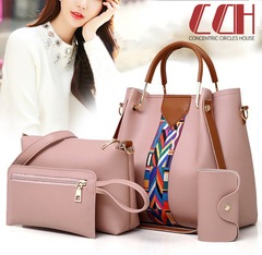 2019 crazy discount, low price hot sale, new fashion son mother bag 4 sets of bags pink one size