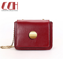 2019 new crazy discount, low price hot sale, single-shoulder oblique cross chain bag red wine one size