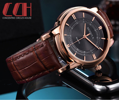 2019 crazy promotion, sale hot, new fashion waterproof quartz men's watch brown one size