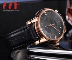 2019 crazy promotion, sale hot, new fashion waterproof quartz men's watch black one size