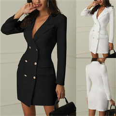 Fashion professional women style pure color sexy professional dress, hot promotion, low price xl black
