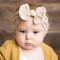 Hot new baby hair accessories soft nylon bow child hair ribbon in 21 colors peach