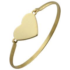 2019Creative heart-shaped titanium steel bracelet gold one size