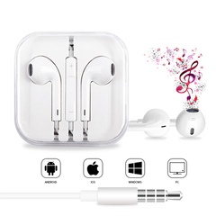 In-ear Sound Quality And Microphone Headphones with Volume Control for Android And Apple Universal
