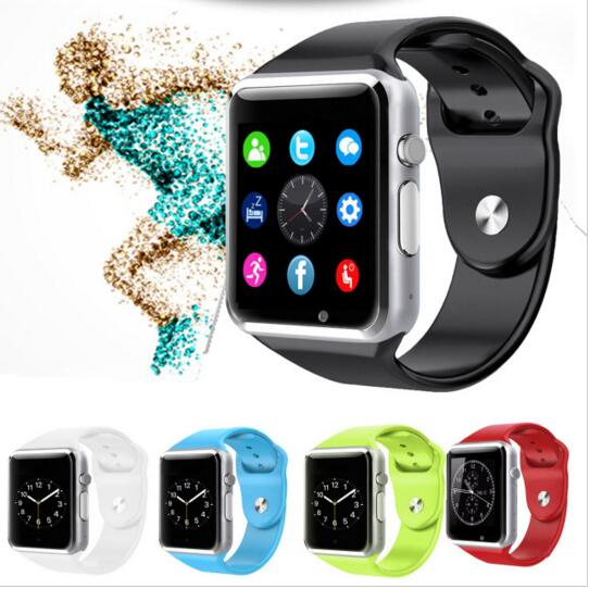 Smart Watches SIM/TF Bluetooth Sport Pedometer WristWatch Smartwatch with Camera  Android Phone black one size