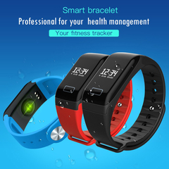 Smart Watch  Bracelet With Heart Rate Blood Pressure Monitor Tracker Smartwatch for Android IOS black normal size