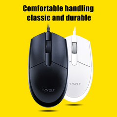 HOT POP V3 Ergonomic 3 Buttons 2400DPI Optical Universal Notebook PC Wired USB Mouse black one size