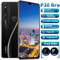 New phones P30 Pro 6.3inch 6G+128G 16MP+8MP 4G LTE Face&Fingerprint unlocking 4800mAh Dual SIM phone black