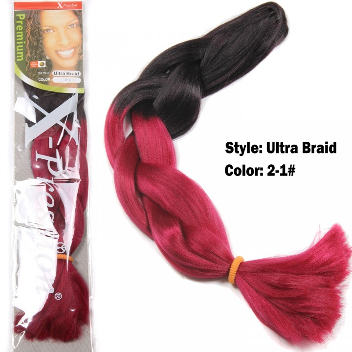 Synthetic Hair Gradient Ultra Braid Extension Blonde African Hair Piece  for Christmas Gift 1 62cm