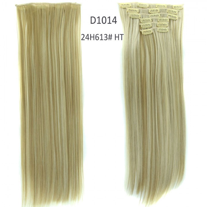 2016 New Straight 16 Clips in Hair Styling Synthetic Extensions  for Christmas Gift 24H613#HT One Size