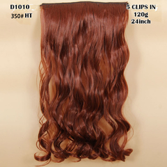 New Hairpiece Curly 5 Clips in Hair Styling Synthetic Extensions  for Christmas Gift 350#HT 24cm
