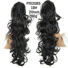 2016 Long Claw Clip Ponytail Hair Curly Synthetic Hairpieces  for Christmas Gift 1 43cm
