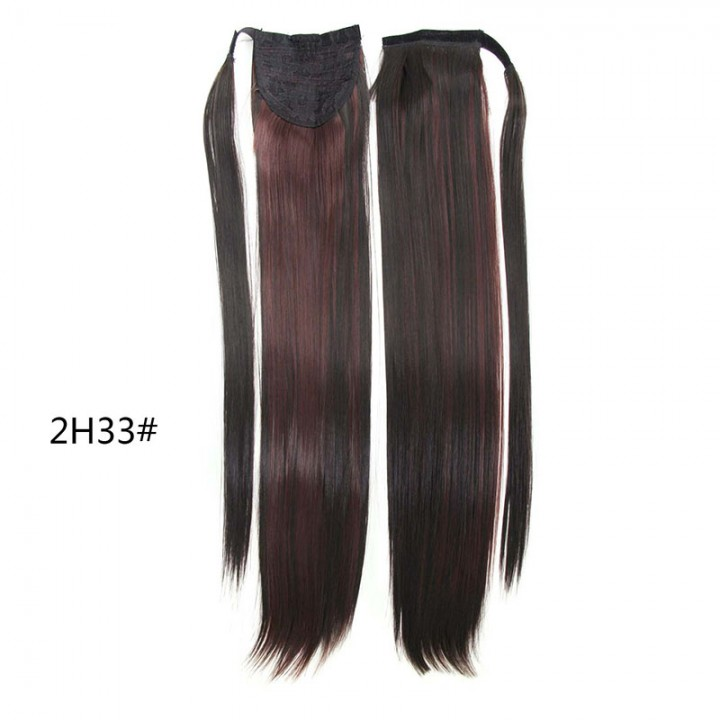 Straight Long Magic Wavy Clip Hair Drawstring Ponytails Hairpiece for Christmas Gift 3 61cm