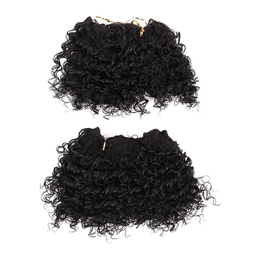 2016 New Arrival Cute Short Curly Hairpiece 2pcs Synthetic Hair Extensions 1 20cm