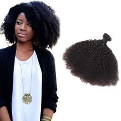 100% Unprocessed Virgin Hair Kinky Curly Style Human Hair 1pc/100g  for Valentine's Day Natural Black 12inch