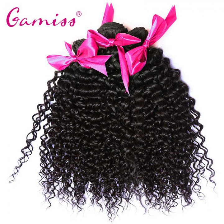 3pcs Virgin Hair Burmese Kinky Curly Extension Human Hair Weave  for Valentine's Day Natural Black 8INCH*8INCH*8INCH
