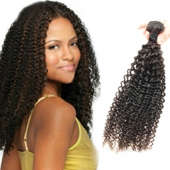 100% Unprocessed Virgin Hair Curly Wave Style Human Hair 1pc/100g  for Valentine's Day Natural Black 12inch