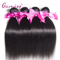 4pcs Burmese Virgin Hair Straight Extension Human Hair Weave  for Valentine's Day Natural Black 12*12*12*12INCH