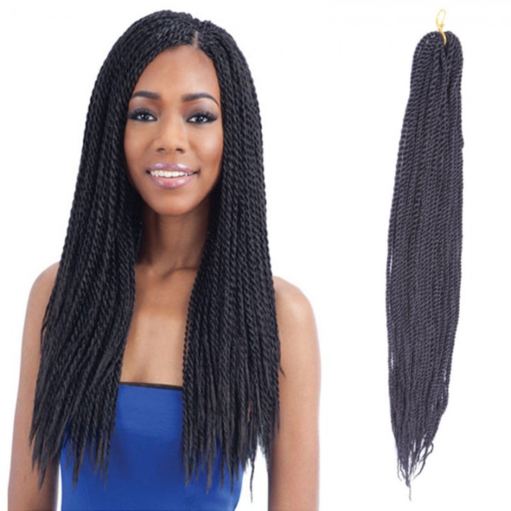"2016 New Arrival Senegale Twist Braid 20"" HAVANA MAMBO Synthetic Hair Extensions  for Women Black 50cm"