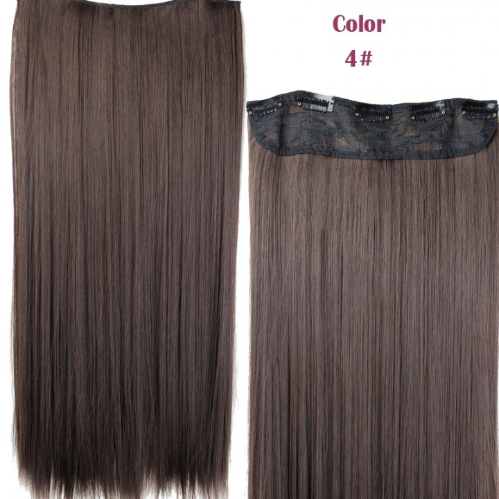 Kilimall New Straight Clips In False Hair Styling Synthetic Clip In