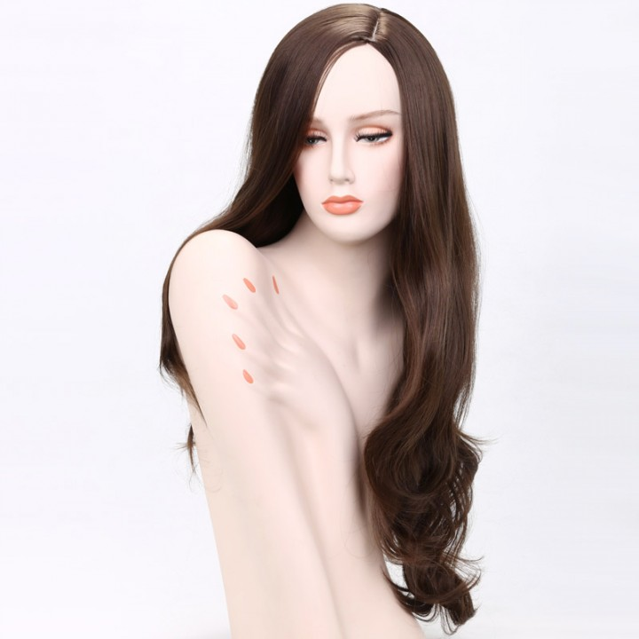 New Arrival Synthetic Hair Hot Sale Long Curly Hair For Women's Wigs  for Christmas Gift Brown 71cm