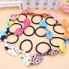 5Pcs Girls Bow Bandage Head Flower Elastic Rubber Band Hair Accessories for Women Hair Holder Rope